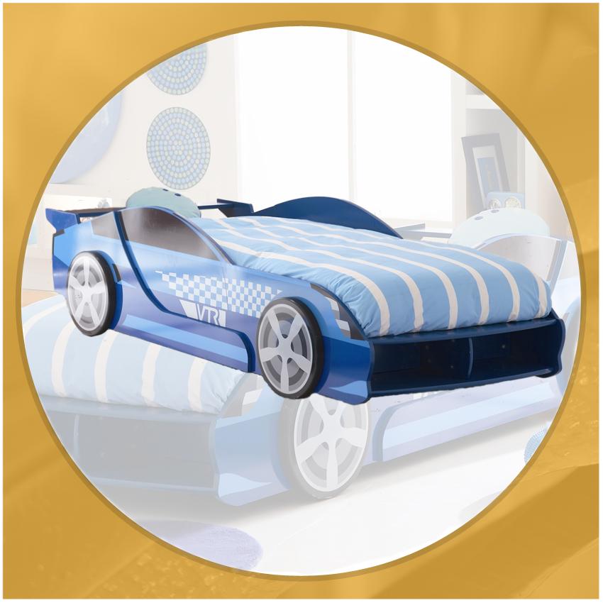 Autobett F1 BLAU Kinderbett Bett Formel 1 NEU 190/200cm