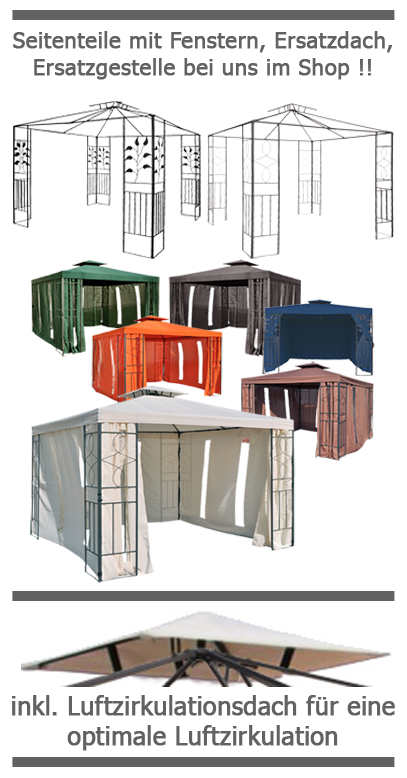 wasserdicht pavillon toskana 3x3m wasserfest pvc metall. Black Bedroom Furniture Sets. Home Design Ideas
